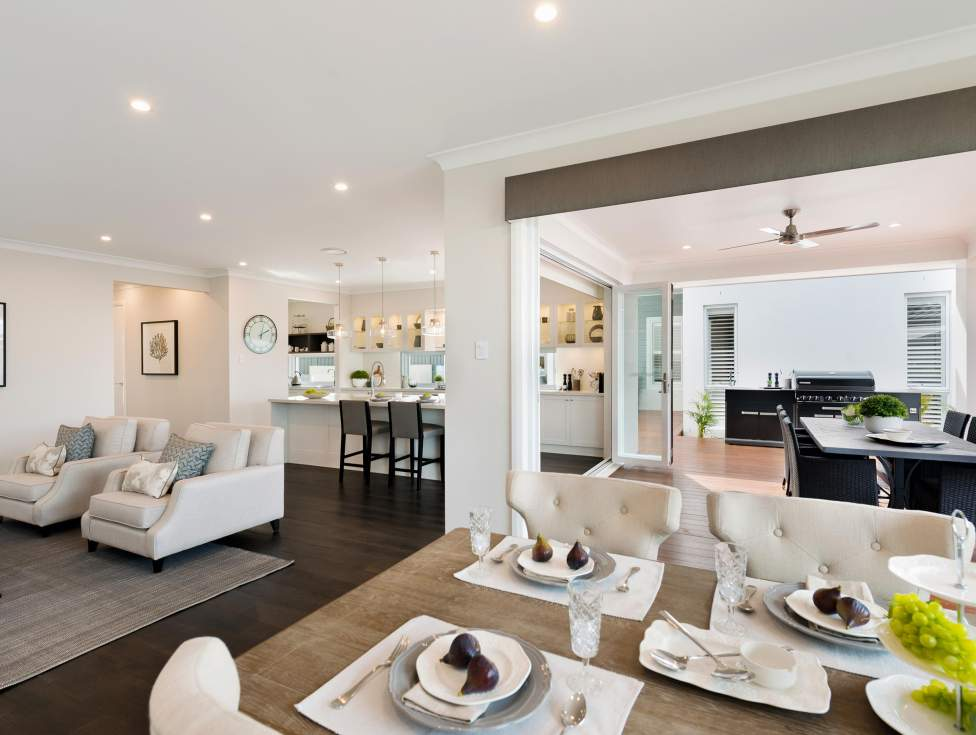 Dining, Living, Kitchen - St Clair Luxury Two Storey Home - McDonald Jones