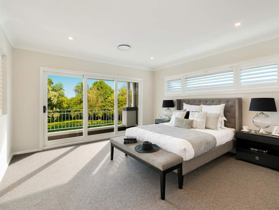 Master Bedroom - St Clair Luxury Two Storey Home - McDonald Jones