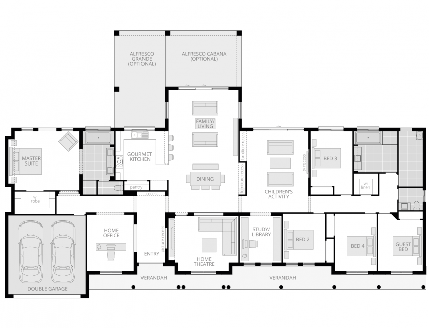 Bronte Executive Grande- Acreage Floor Plan- McDonald Jones