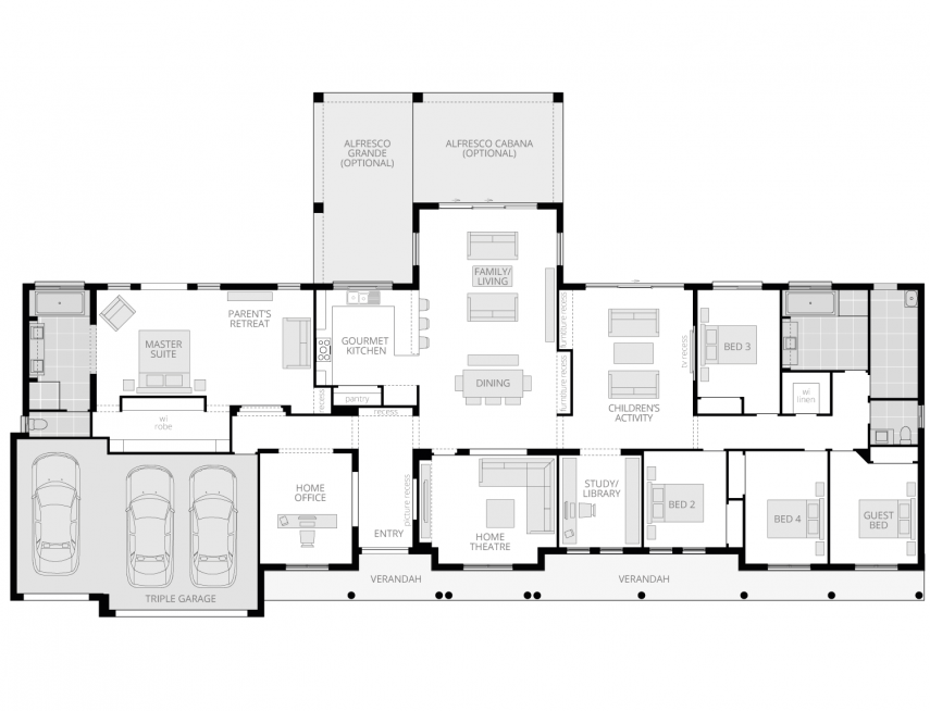 Bronte Executive Grande Manor Two- Acreage Floor Plan- McDonald Jones