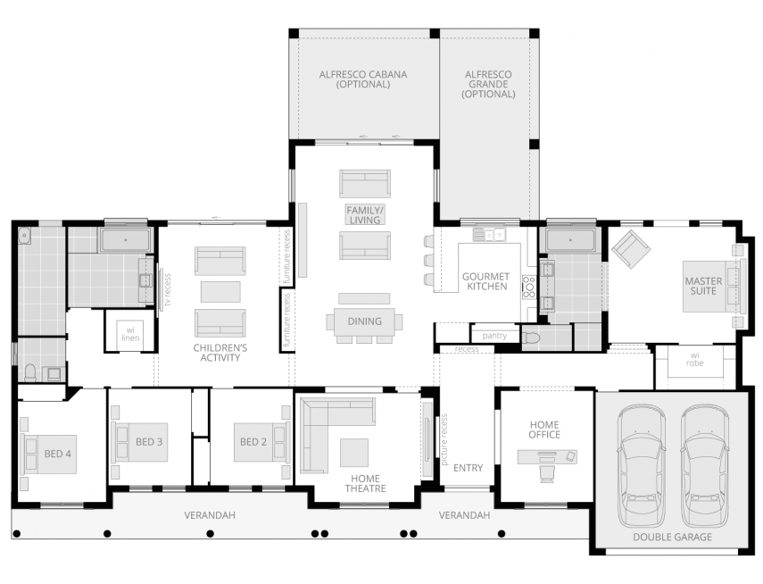 Bronte Executive- Acreage Floor Plan- McDonald Jones