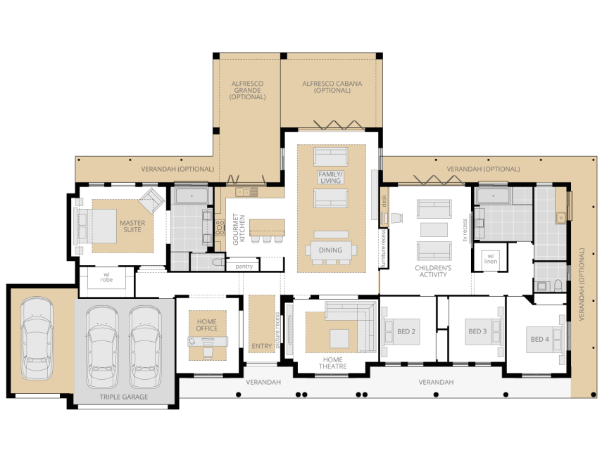 Bronte Executive- Acreage Floor Plan Upgrade- McDonald Jones