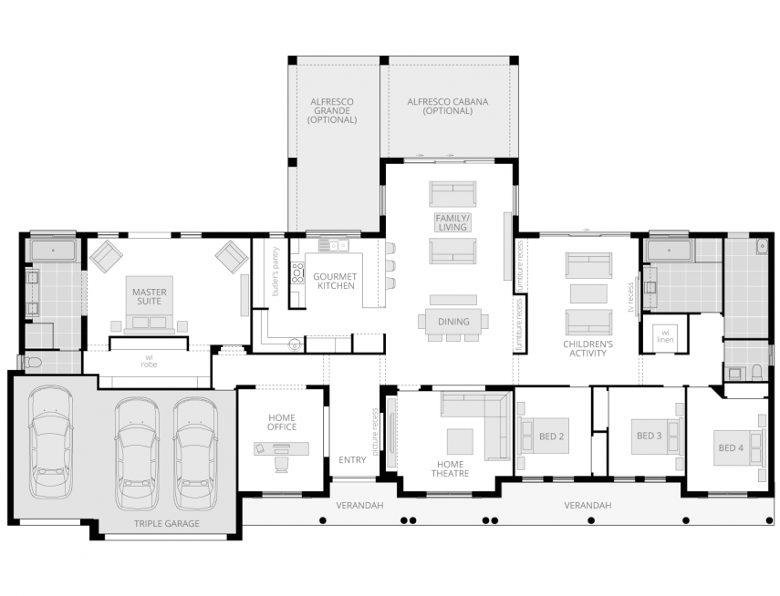 Bronte Executive Lodge- Acreage Floor Plan- McDonald Jones