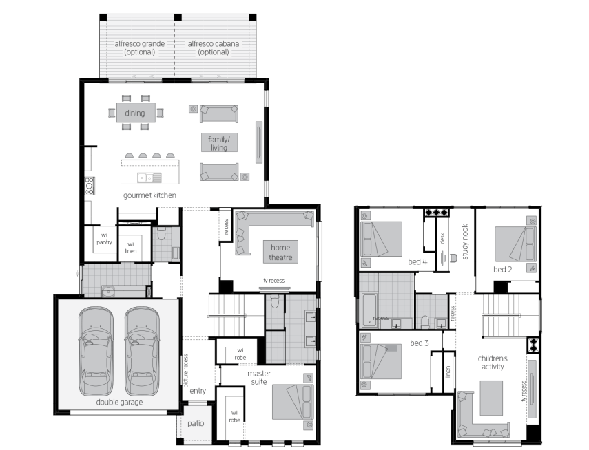 Avondale 34- Two Storey Floor Plan- McDonald Jones