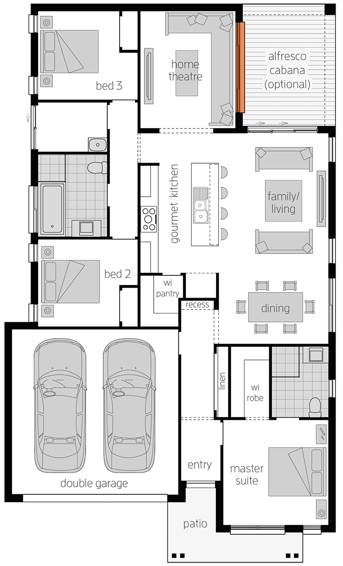 Albany One - Single Storey Floor Plan - McDonald Jones