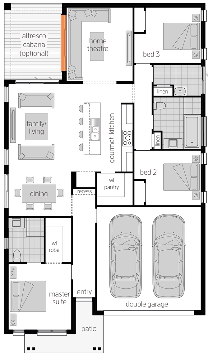 Albany Two - Single Storey Floor Plan - McDonald Jones