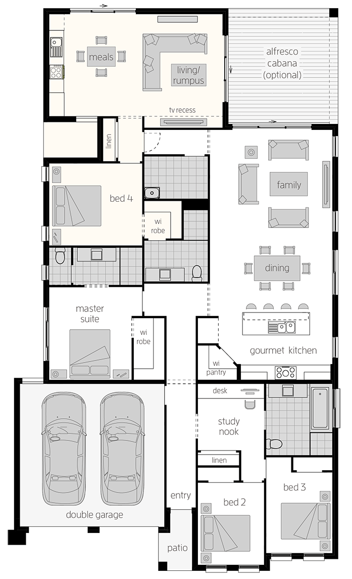 Granny Flat Design Dual Living House Plans Mcdonald