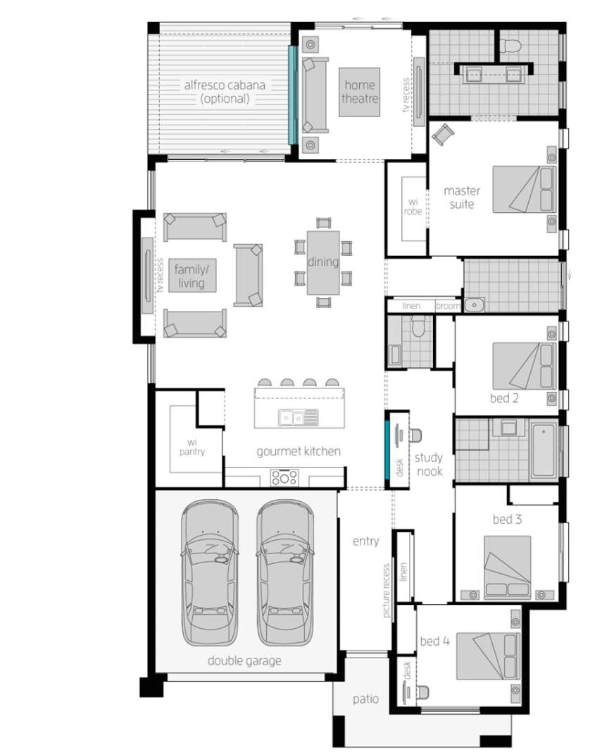 Floor Plan - Suffolk - McDonald Jones Homes