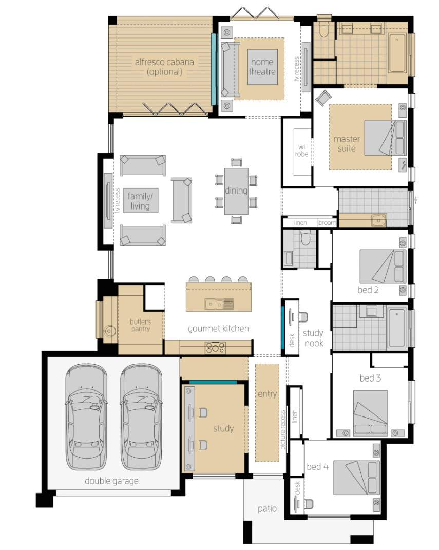 Floor Plan-Suffolk-Upgrades-McDonald Jones Homes