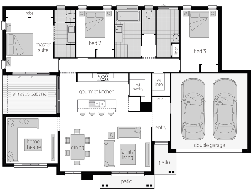 Cambridge - Single Storey Floor Plan - McDonald Jones