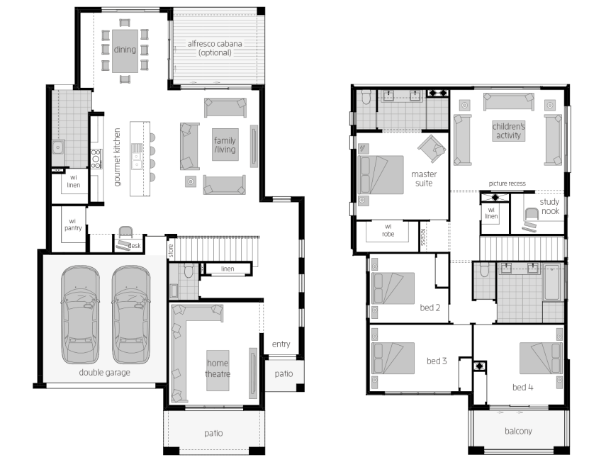 Castleton 34- Two Storey Floor Plan- McDonald Jones