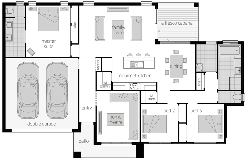 Eaton - Single Storey Floor Plan - McDonald Jones