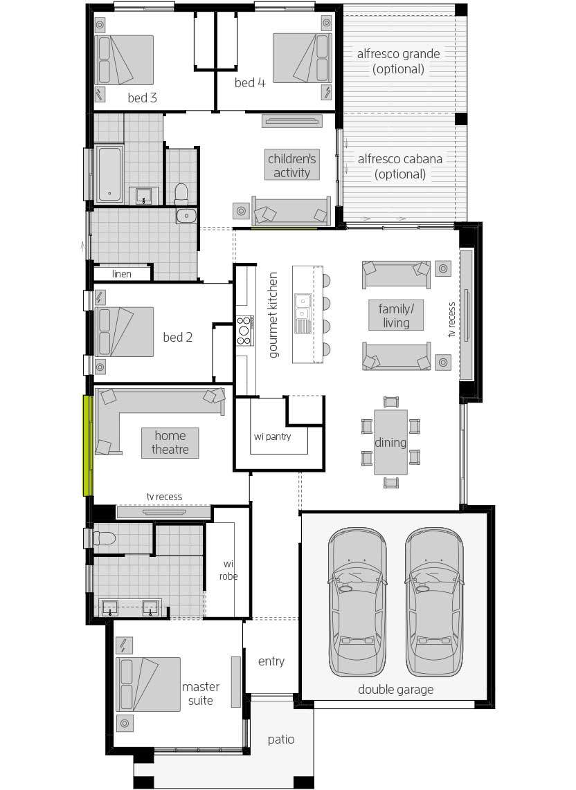 Havana Encore 14- Single Storey Floor Plan- McDonald Jones