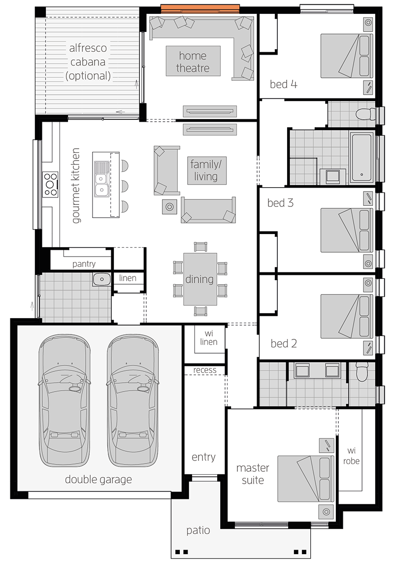 Linden Two - Single Storey Floor Plan - McDonald Jones