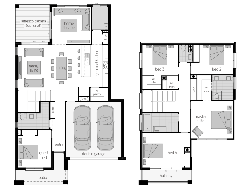 Lexington 28- Two Storey Floor Plan- McDonald Jones