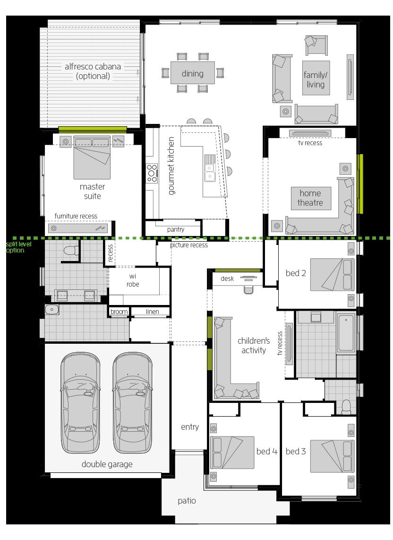 The Milano New House Designs Amp Plans Mcdonald Jones Homes
