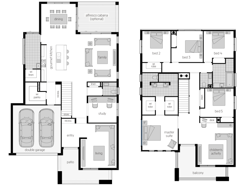 Saxonvale 40- Two Storey Floor Plan- McDonald Jones