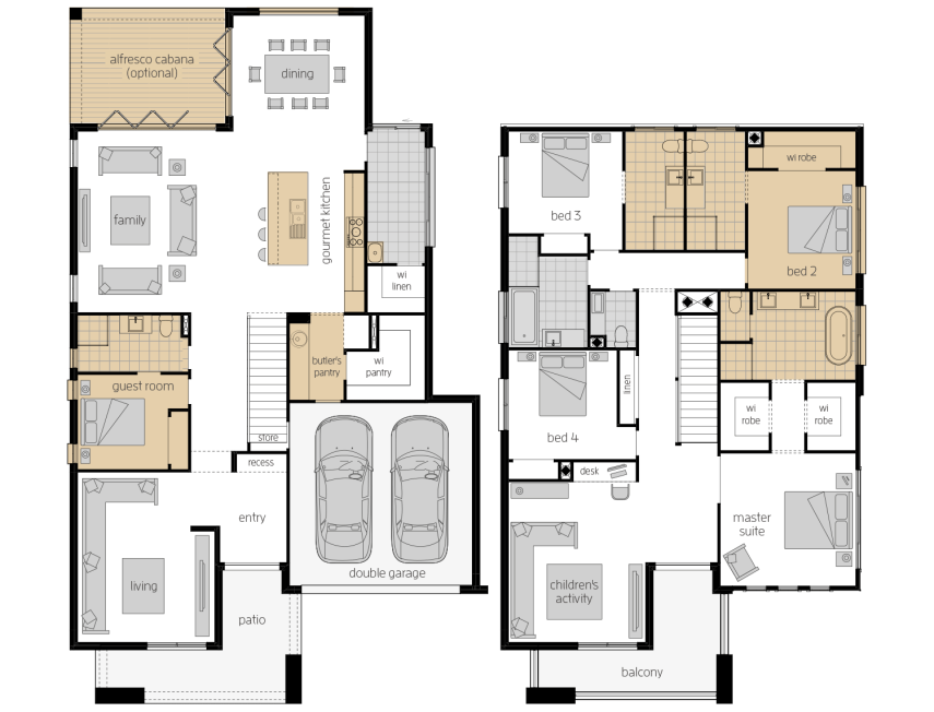 Saxonvale 40- Two Storey Upgrade Floor Plan- McDonald Jones