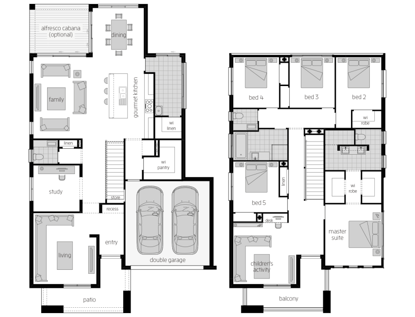 Saxonvale 36- Two Storey Floor Plan- McDonald Jones