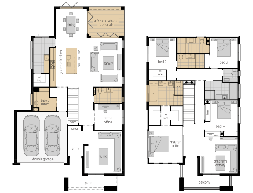 Saxonvale 36- Two Storey Upgrade Floor Plan- McDonald Jones