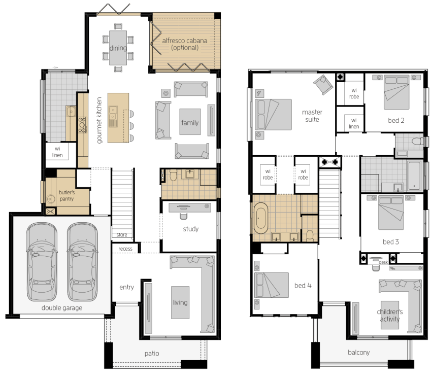 Saxonvale 36 Two- Two Storey Floor Plan Upgrade- McDonald Jones