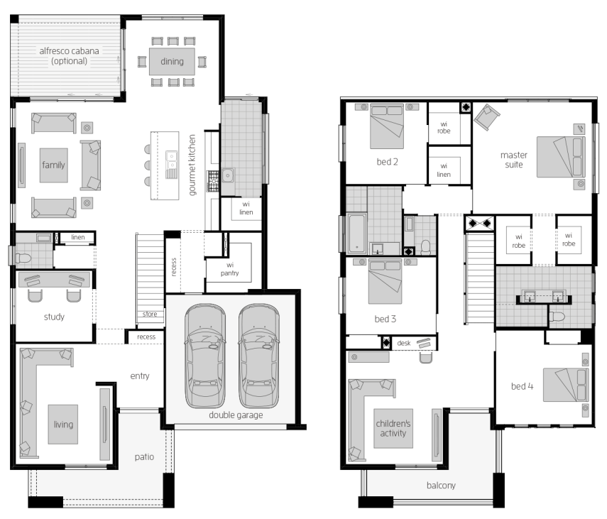 Saxonvale 40 Two- Two Storey Floor Plan- McDonald Jones