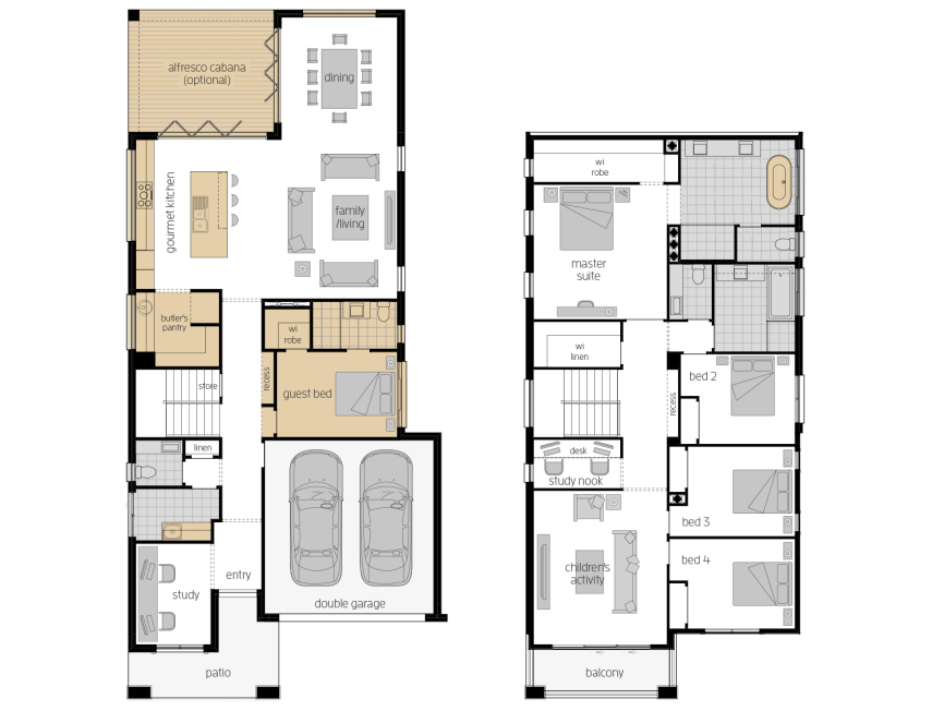 St. Clair 37 Two- Two Storey Upgrade Floor Plan- McDonald Jones