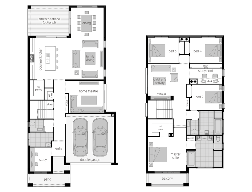 St. Clair 34 One- Two Storey Floor Plan- McDonald Jones