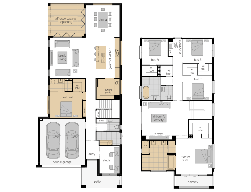 St. Clair 37 Three- Two Storey Upgrade Floor Plan- McDonald Jones