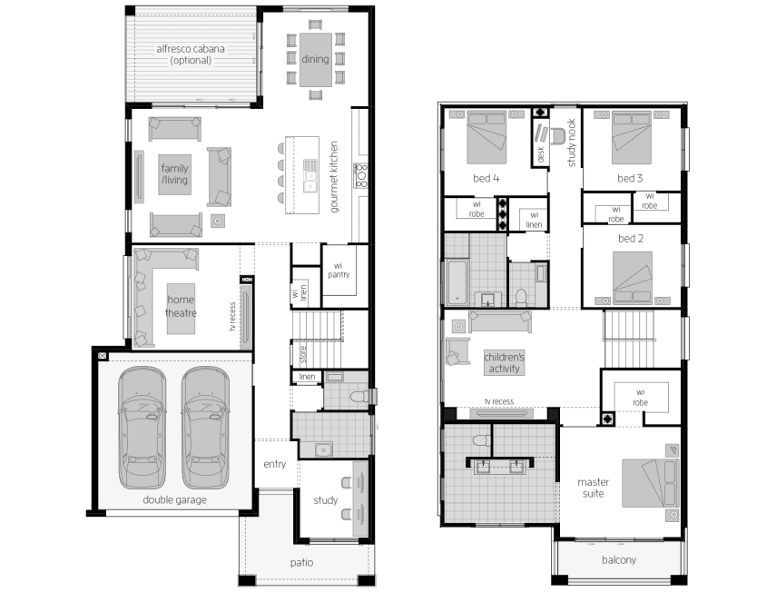St. Clair 34 Two- Two Storey Floor Plan- McDonald Jones