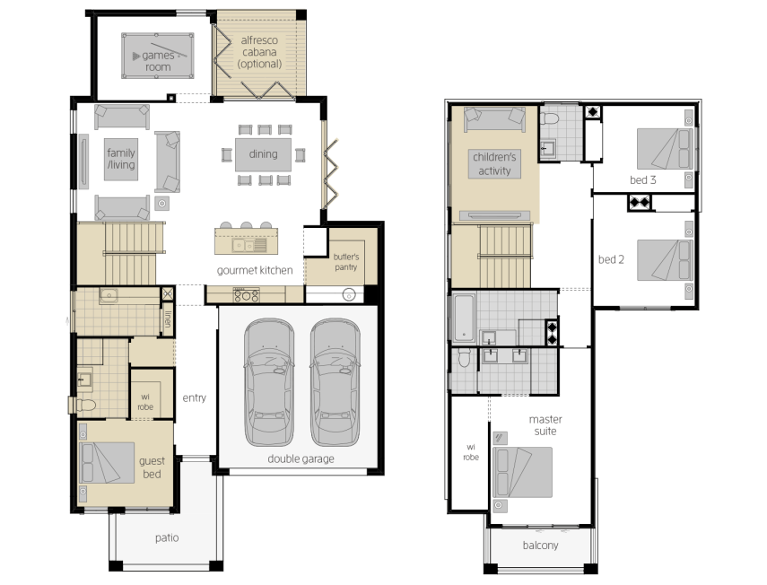 Sevilla 28- Two Storey Upgrade Floor Plan- McDonald Jones