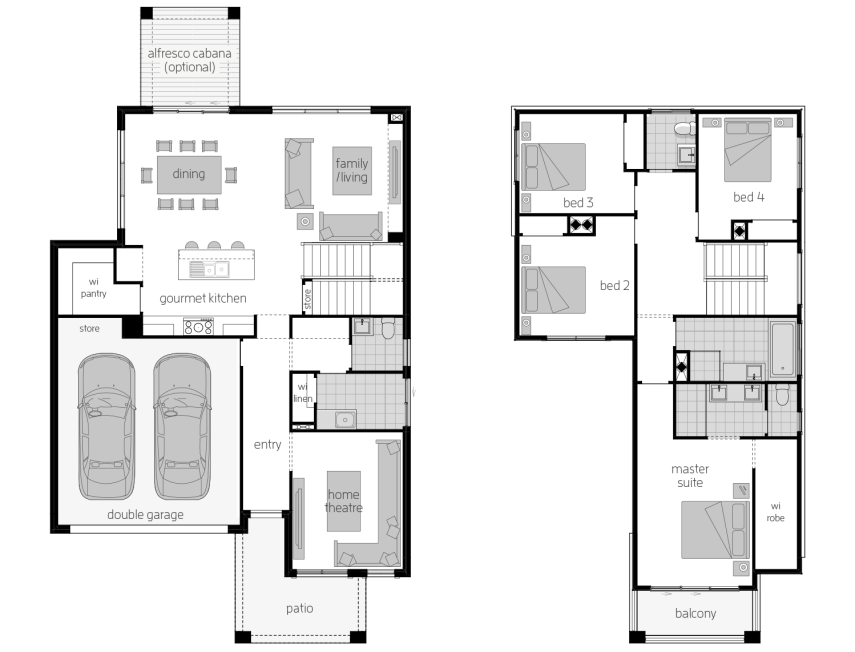 Sevilla 26- Two Storey Floor Plan- McDonald Jones