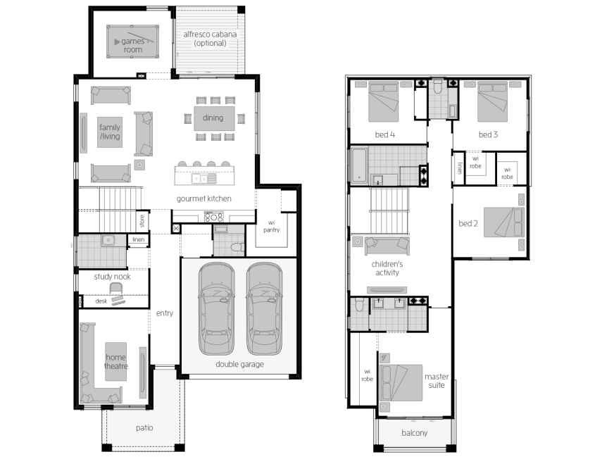 Sevilla 32- Two Storey Floor Plan- McDonald Jones