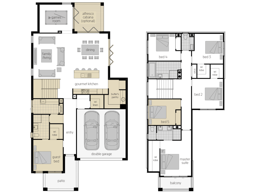 Sevilla 32- Two Storey Upgrade Floor Plan- McDonald Jones