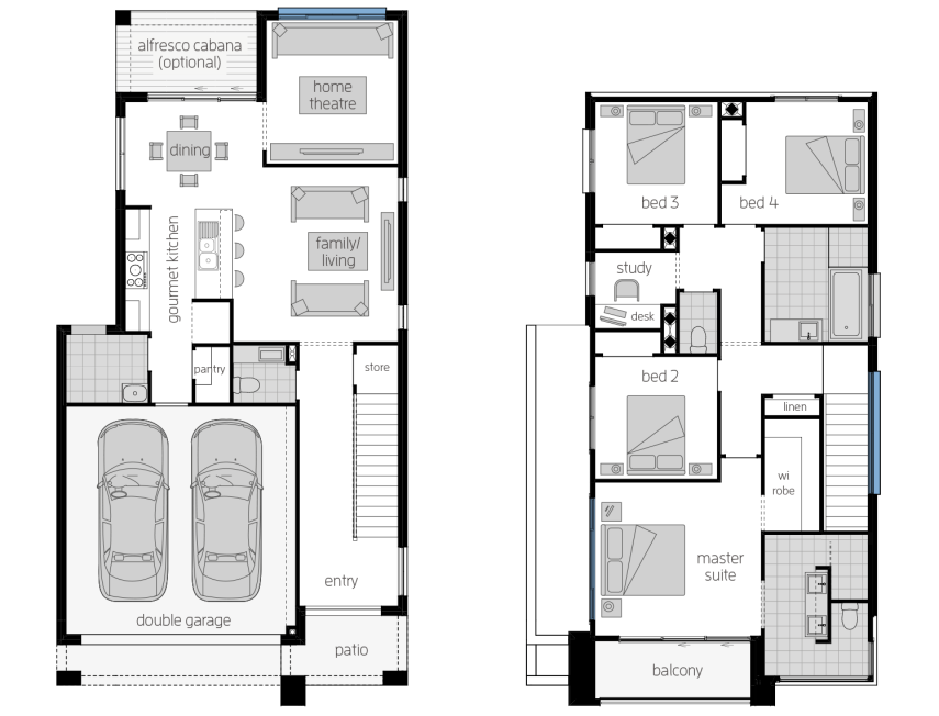 Whistler 25- Two Storey Floor Plan- McDonald Jones