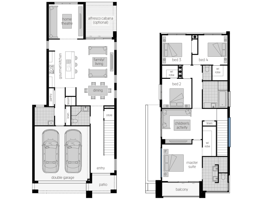 Whistler 28- Two Storey Floor Plan- McDonald Jones