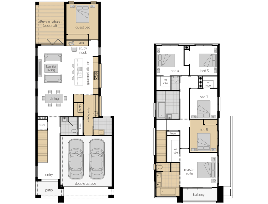 Whistler 30- Two Storey Upgrade Floor Plan- McDonald Jones