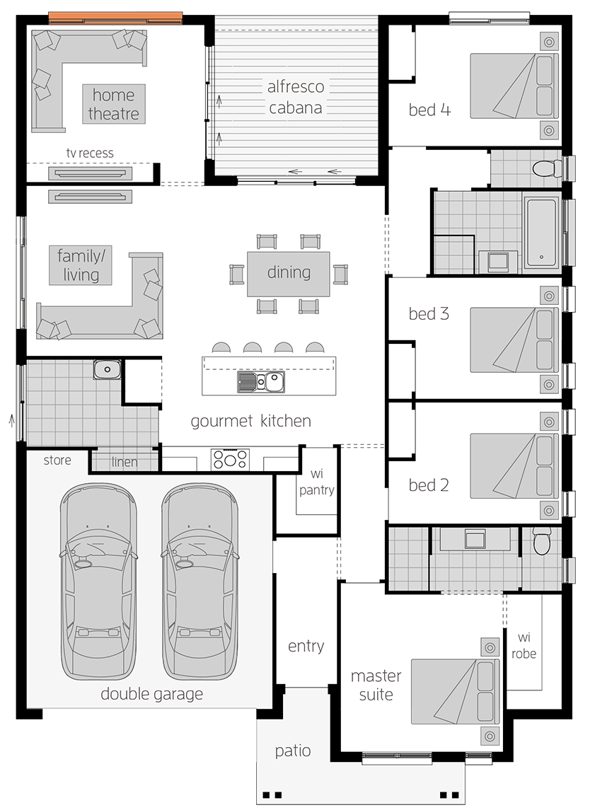 Harlow - Single Storey Floor Plan - McDonald Jones