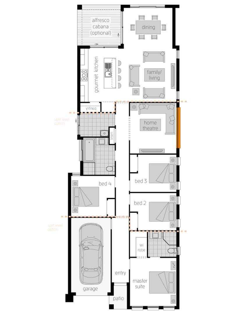 Floor Plan -  Hamilton Five - McDonald Jones