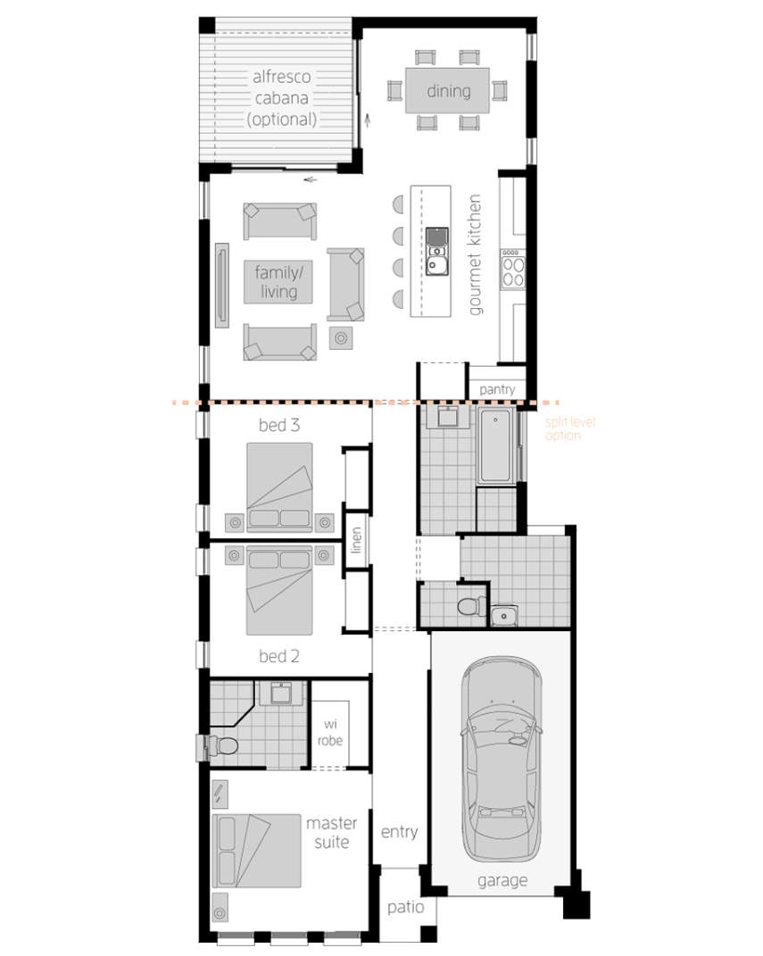 Floor Plan -  Hamilton Three - McDonald Jones