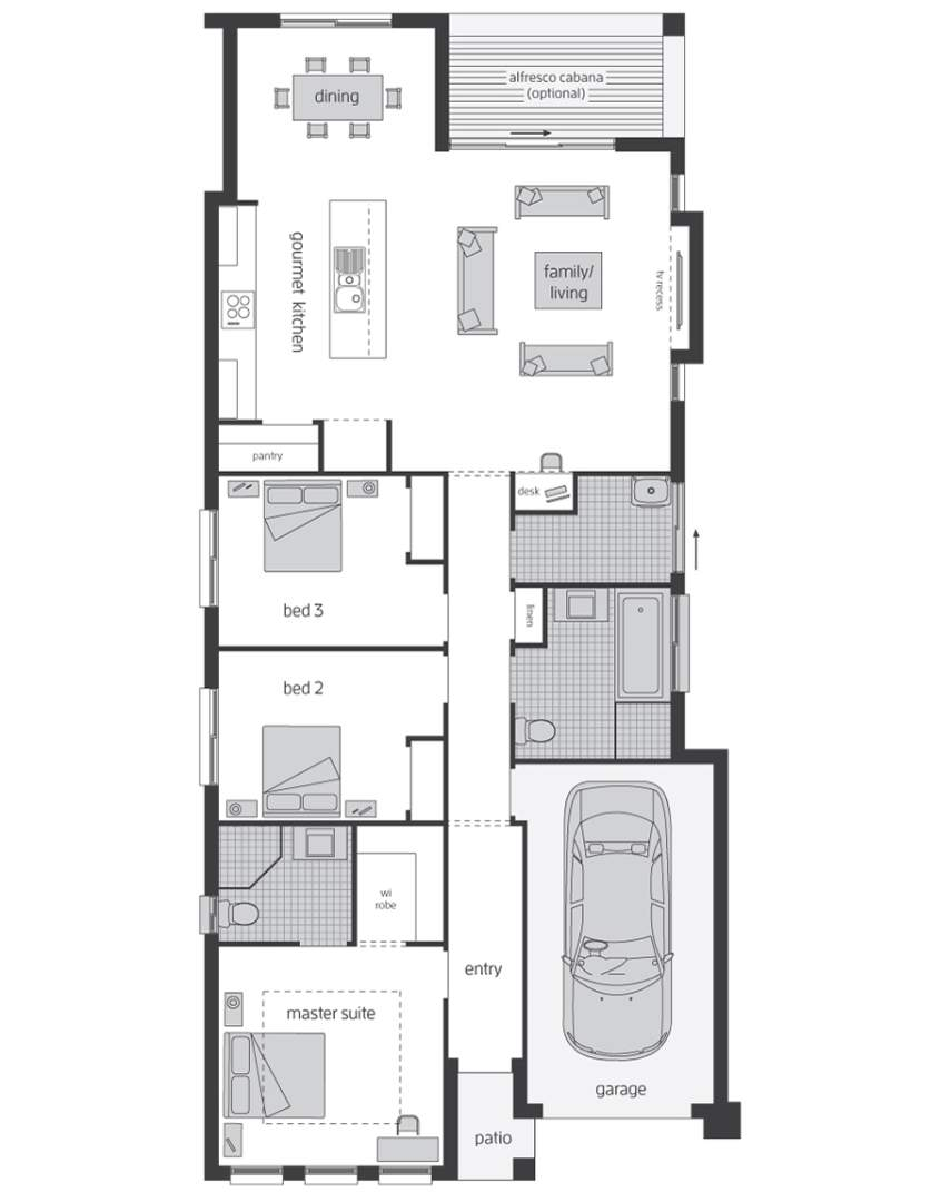 Floor Plan -  Hamilton Two - McDonald Jones