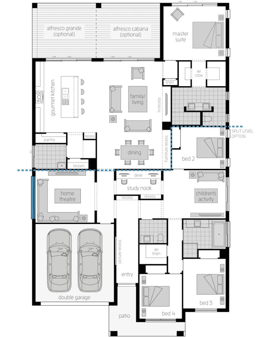 Floor Plan - Miami 16 Luxury Home Design - McDonald Jones
