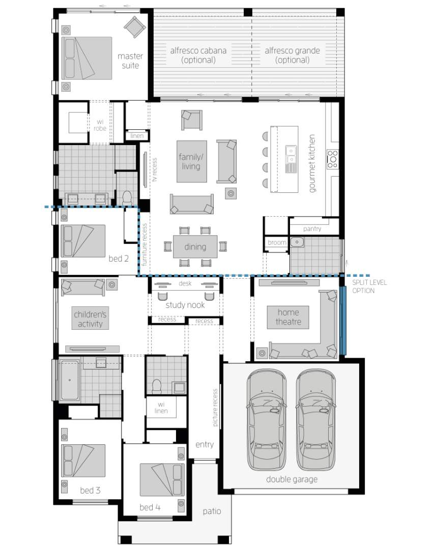 Floor Plan - Miami 16 Executive Luxury Home - McDonald Jones