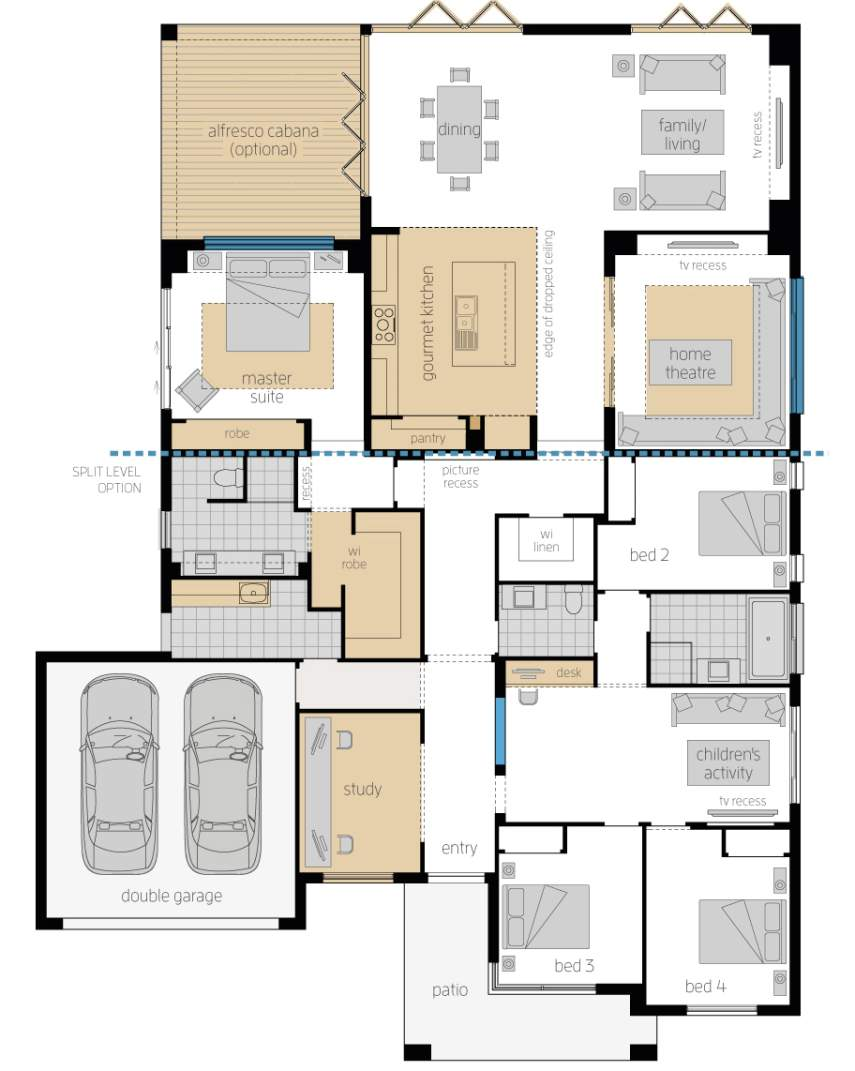 Floor Plan - Monaco One Elite - Upgrades - McDonald Jones