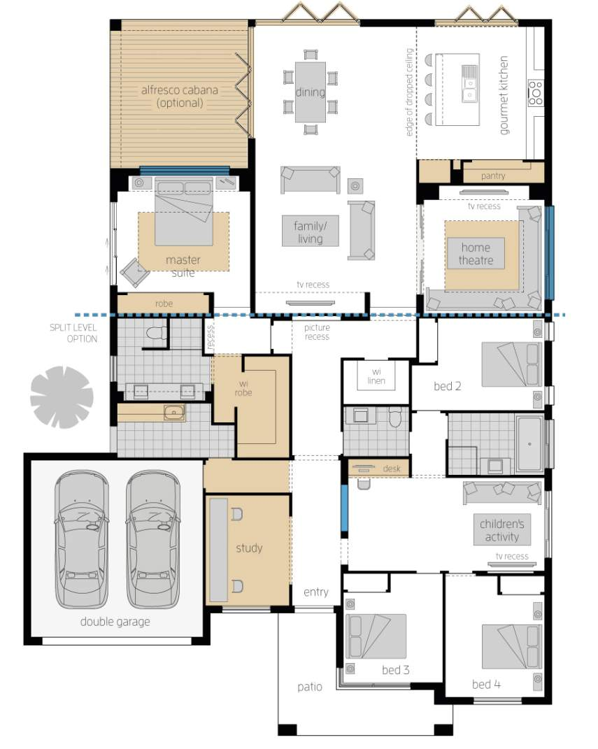 Floor Plan - Monaco Two Elite - Upgrades - McDonald Jones