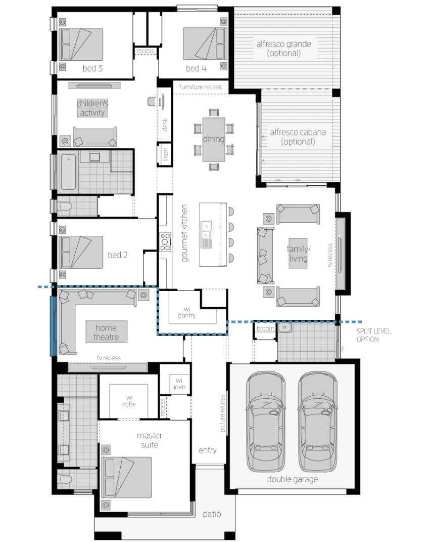 Floor Plan - Seaview - Luxury Home Design - McDonald Jones