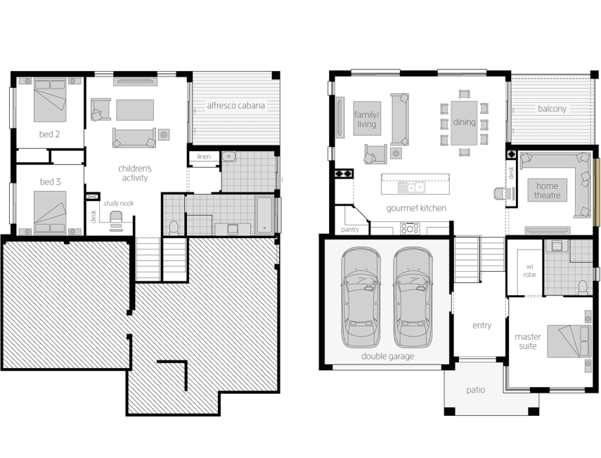 Floor Plan - Horizon - Split Level Home - McDonald Jones