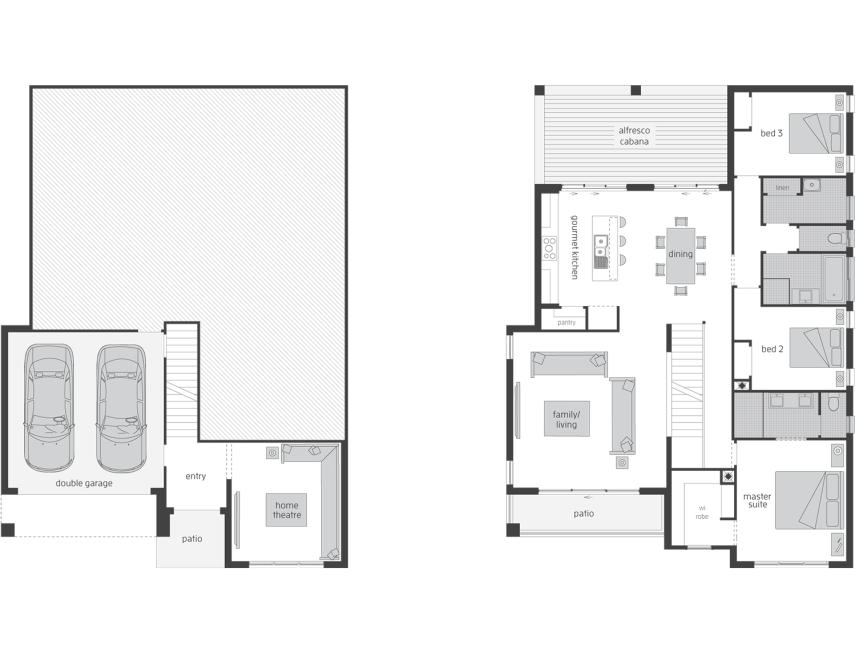 Monterey - Split Level Home Design