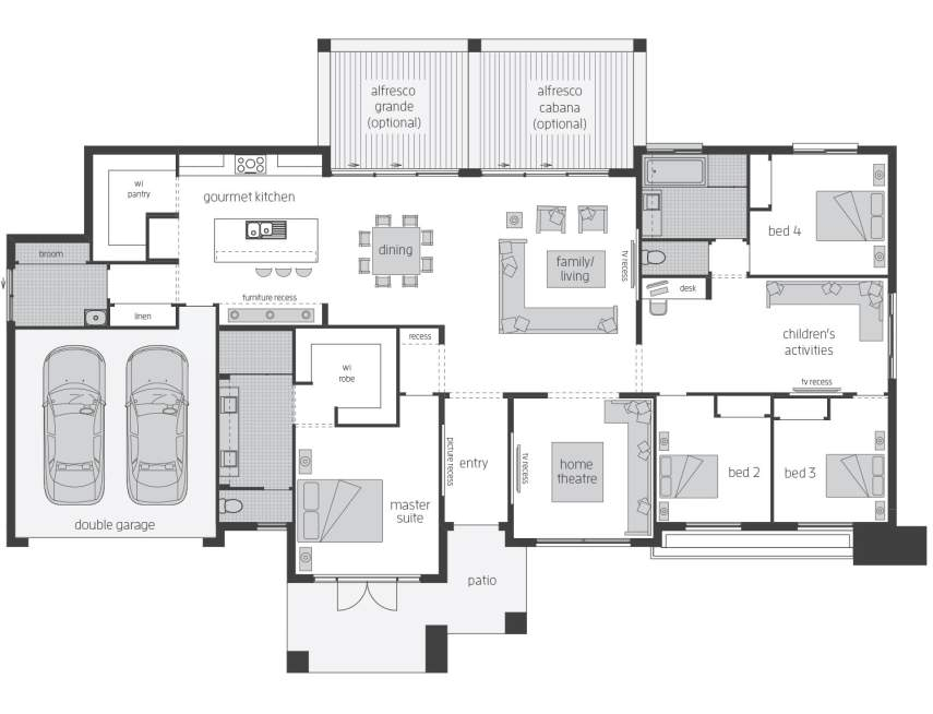 Floor Plan - Clarence - Acreage Home Design - McDonald Jones