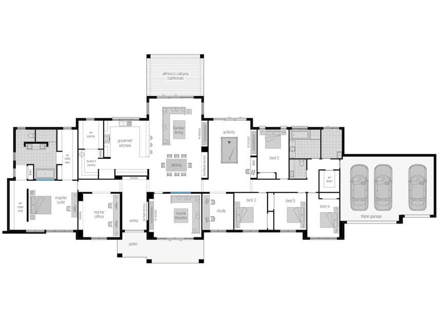 Hermitage Country Home Design Mcdonald Jones Homes